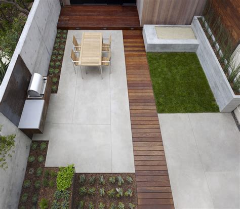 Modern Concrete Patio Designs San Francisco Dining Terrace