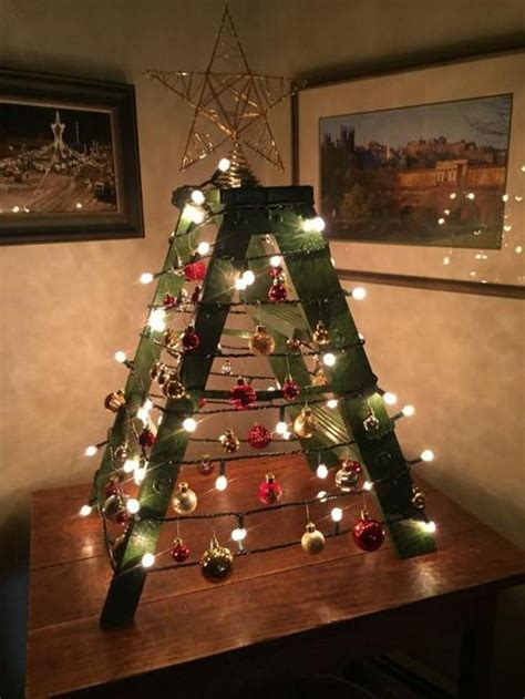 alternative christmas tree designs turning step ladders  fun holiday decorations