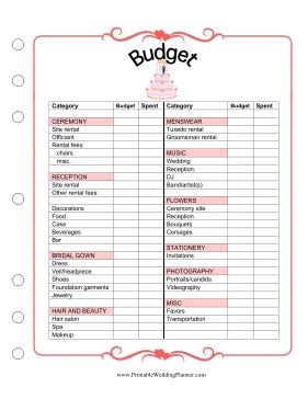 printable free wedding planner book free printable wedding budget then we know how much we
