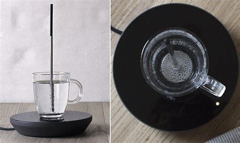 induction heating water boiling energy efficient device uses induction to boil water in a mug to be traditional and student