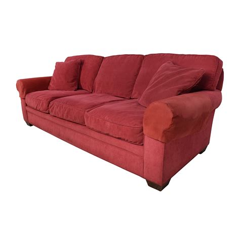 burgundy sofa and loveseat 77 off crate and barrel crate barrel microfiber suede