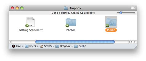 dropbox public folder computer