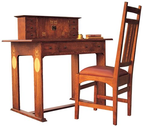 stickley furniture harvey ellis desk chair  inlay