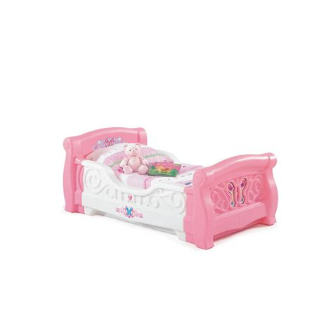 toddler bed girl shop step2 girls toddler sleigh bed at lowes com