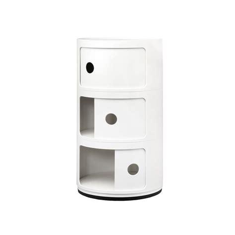mobili componibili kartell mobile contenitore componibili 3 moduli bianco