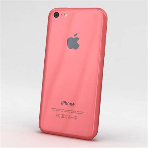 Hp Iphone 5c Pink apple iphone 5c pink 3d model