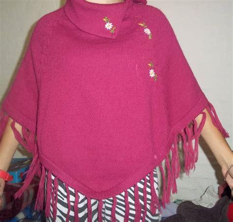 poncho para ni a en crochet y agujas circulares tricot ponchos para adulto tejidos