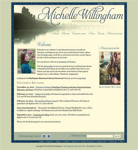 website design  author michelle willingham swank web