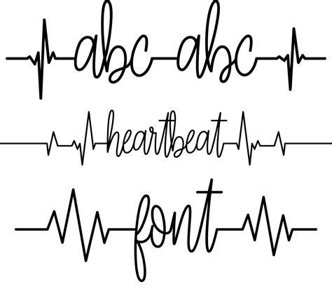 heartbeat font sofontsy