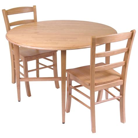 dining set light oak winsome 174 light oak 3 pc dining set 151422 kitchen
