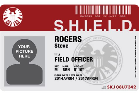 shield id card template get your personalized s h i e l d id card for free actionfigurepics