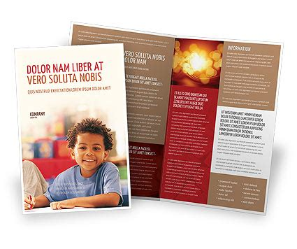 basic education brochure template design and layout