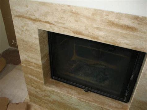 Fireplace Slabs by Travertine Slab Fireplace Facade Fireplace