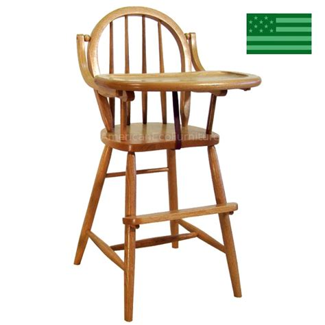 Wooden Baby High Chairs amish bow back baby high chair solid wood handcrafted baby furniture made in usa american