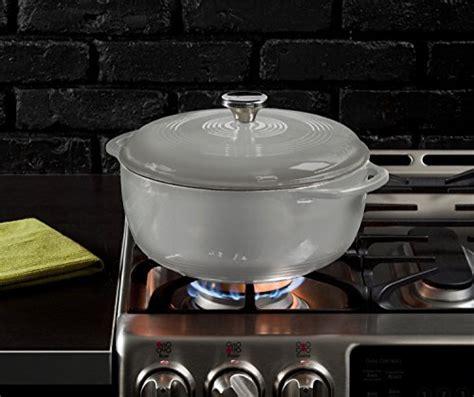 lodge color enamel 6 quart oven lodge ec6d05 enameled cast iron oven 6 quart gray
