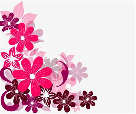 background design with flowers flower clipart background design pencil and in color