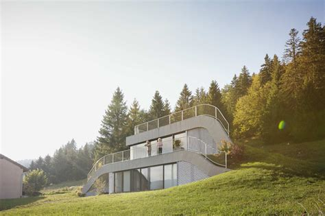 homes built into hillside this house is built into a hillside in contemporist