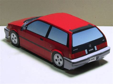 Papercraft Honda - paper model honda civic hatchback 1983 自動車ペーパークラフト