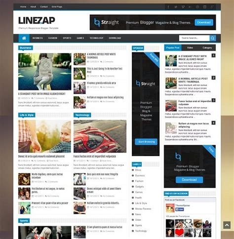 blogspot themes tech linezap news blogger template 187 abtemplates com