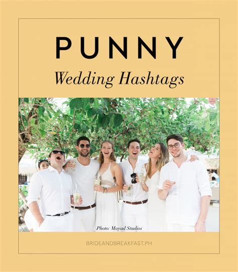 Wedding Hashtags by Punny Wedding Hashtags Cover Philippines Wedding