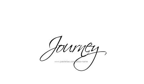 journey name tattoo designs
