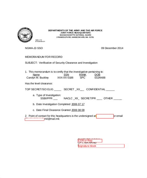 army appointment letter template army memo sle 6 documents in pdf