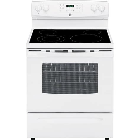 Kenmore Stove by Kenmore 94172 5 3 Cu Ft Self Cleaning Electric Range White