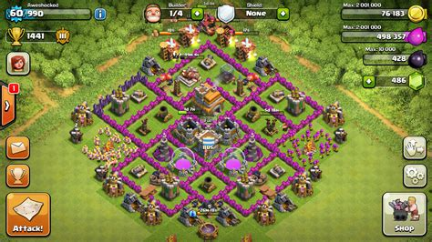 town hall 7 base level 7 town hall hybrid base google search all things