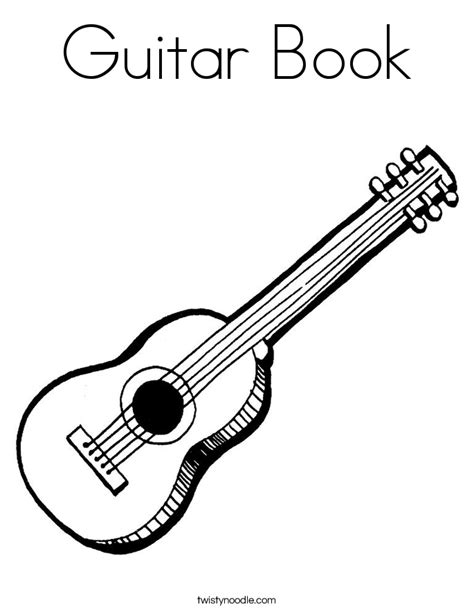coloring book guitar guitar book coloring page twisty noodle