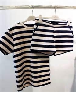 matching set shirt black white tailoring shorts top t shirt stripes shorts set set