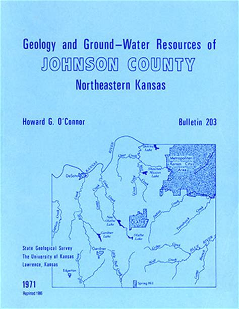kgs  johnson county geohydrology