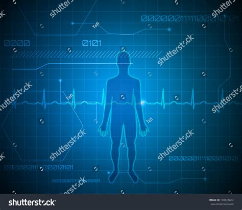 beautiful technology human silhouette abstract technology background beautiful