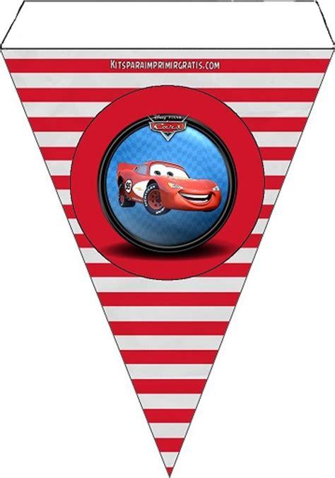 banderines de rayo mcqueen decoraci 243 n de cars imprimibles gratis kits para