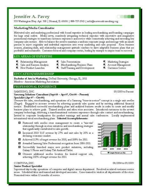 Doc.#5100: Sales And Marketing Resumes Examples ( 76