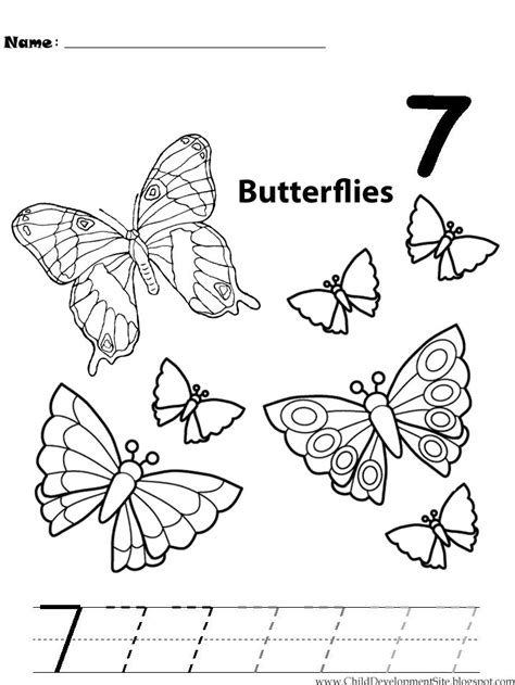 Number 7 Coloring Pages For Preschoolers by 16 Best Images Of Pre K Worksheets Number 7 Printable