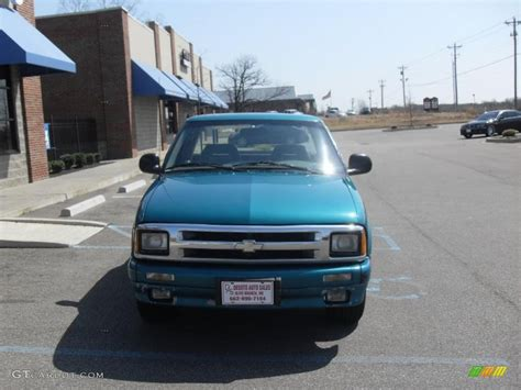 1996 bright teal metallic chevrolet s10 ls extended cab