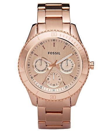 fossil s stella gold tone stainless