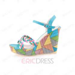 colorful wedge sandals soft colorful platform wedge heel sandals wedge