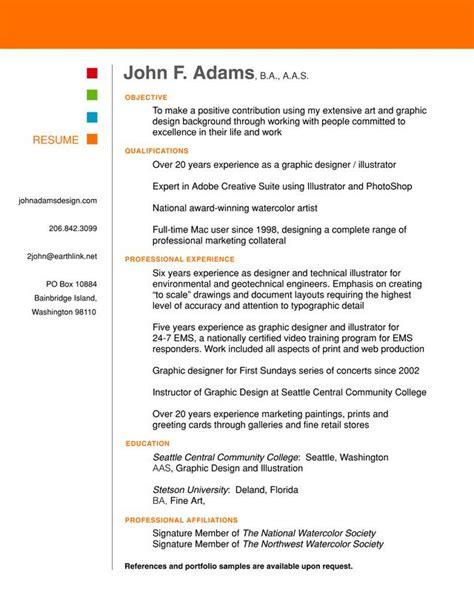 Graphic Design Resume Sles Pdf Resume