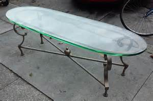 Thin Coffee Table Uhuru Furniture Collectibles Sold Thin Coffee Table With Thick Oval Glass Top 100