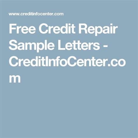 Free Credit Repair Letters Best 25 Free Credit Repair Ideas On Free Credit Credit Report And Fixing Credit Score