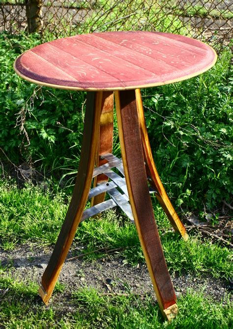 Barrel Bistro Table Chili Pepper Woodworks Modern Wine Barrel Bistro Table