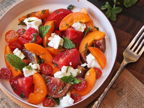 tomato apricot and feta salad with mint recipe serious eats