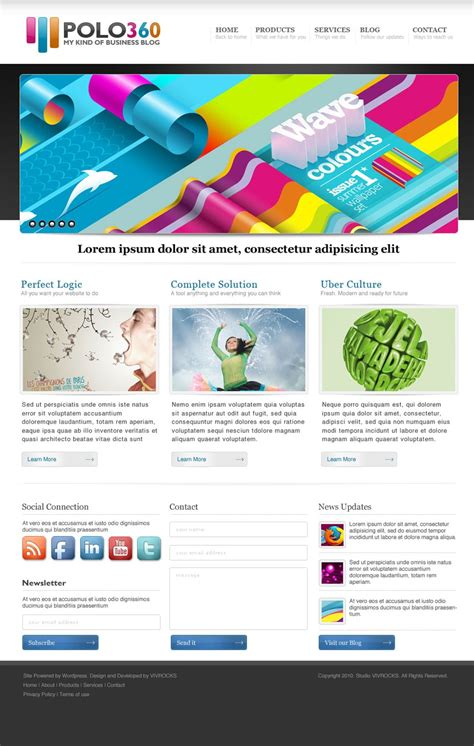 Latest Free Web Page Templates Psd 187 Css Author Website Templates