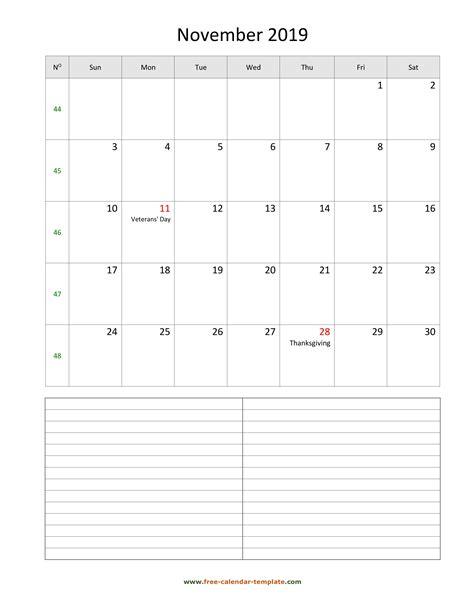 november   calendar tempplate  calendar templatecom