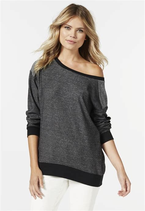Slouchy Sweatshirt slouchy sweatshirt in black get great deals at