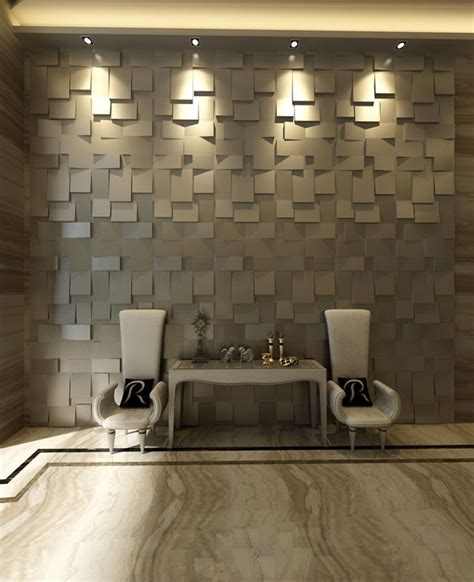 wall panels cubes design 3d glue on wall panel