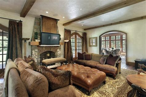Tv Stand Bookcase Combo 25 Gorgeous Living Rooms Featuring Comforting Earth Tones