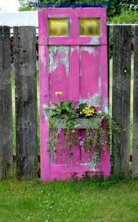 Repurposed Doors In The Garden Could Use The Old Door For A Garden Inspiring Ideas