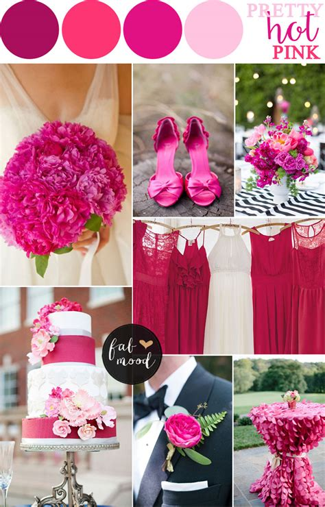 wedding by color pink wedding color combos